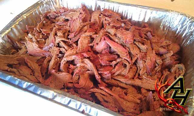 smoked venison pulled