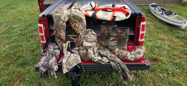 everything in my scent crusher ozone gear bag